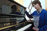 16 years old Shane Madden from Keel, Castlemaine who is being called the 'Liberachi of Castlemaine' after winning the Kerry School of Music Student of the Year and the Rotary Club Young Musician of the Year 05 after his performance of Rachmannniof's 'Prelude. The student from Miltown Secondary School hopes to become a professional classical pianist and could become even more famous that his former neighbour, Jack Duggan, famed in song as 'The Wild Colonial Boy' who terrorised Australia as a highwayman.<br />Picture by Don MacMonagle
