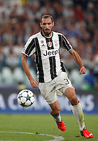 Calcio, Champions League: Juventus vs Siviglia: Torino, Juventus Stadium, 14 settembre 2016. <br /> Juventus' Leonardo Bonucci in action during the Champions League Group H football match between Juventus and Sevilla at Turin's Juventus Stadium, 16 September 2016.<br /> UPDATE IMAGES PRESS/Isabella Bonotto