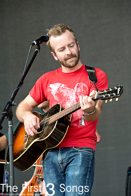 Dave Simonett of Trampled by Turtles performs during the Forecastle Music Festival at Waterfront Park in Louisville, Kentucky.