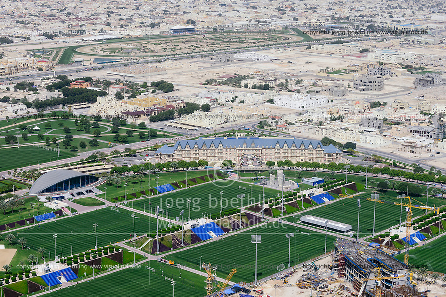 QATAR, Doha, construction site sportspark and Khalifa International Stadium for FIFA world cup 2022, built by contractor midmac and sixt contract / KATAR, Doha, Baustelle Sportpark und Khalifa International Stadium fuer die  FIFA Fussballweltmeisterschaft 2022