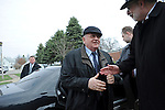 Mikhail Gorbachev, the last premier of the Soviet Union, arrives at Eureka College, the alma matter of President Reagan, in Eureka, Illinois on March 27, 2009.  Gorbachev is to receive an honorary doctorate from the college, calling Reagan a partner whom he trusted.
