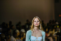NOVA YORK, EUA,08/09/2019 -  Modelo durante desfile Zu Shi no New York Fashion Week na cidade de Nova York neste domingo, 08. (Foto: Vanessa Carvalho/Brazil Photo Press/Folhapress)