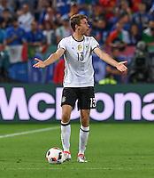 FUSSBALL EURO 2016 VIERTELFINALE IN BORDEAUX Deutschland - Italien      02.07.2016 Thomas Mueller (Deutschland)