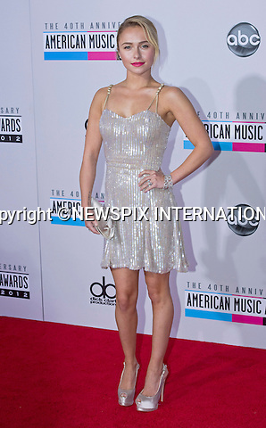 """HAYDEN PANETTIERE.attends the 40th American Music Awards, Nokia Theatre, Los Angeles_18/11/2012.Mandatory Photo Credit: ©Francis Dias/Newspix International..**ALL FEES PAYABLE TO: """"NEWSPIX INTERNATIONAL""""**..PHOTO CREDIT MANDATORY!!: NEWSPIX INTERNATIONAL(Failure to credit will incur a surcharge of 100% of reproduction fees)..IMMEDIATE CONFIRMATION OF USAGE REQUIRED:.Newspix International, 31 Chinnery Hill, Bishop's Stortford, ENGLAND CM23 3PS.Tel:+441279 324672  ; Fax: +441279656877.Mobile:  0777568 1153.e-mail: info@newspixinternational.co.uk"""