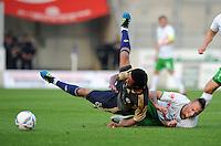 FUSSBALL   INTERNATIONALES TESTSPIEL  SAISON 2011/2012   SV Werder Bremen - Fenerbahce Istanbul               23.08.2011 Christian BARONI (li, Istanbul) gegen Marko ARNAUTOVIC (re, Bremen)