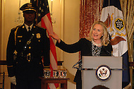 October 27, 2011  (Washington, DC)  Secretary of State Hillary Rodham Clinton speaks at the 50th Anniversary Celebration of the Diplomatic Rooms at the State Department in Washington.  (Photo by Don Baxter/Media Images International)