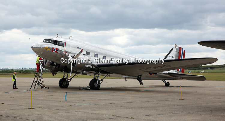 Douglas C-53 Skytrooper, LN-WND, at the Daks Over Duxford event, Duxford, United Kingdom, 5th June 2019. Photo by Glenn Ashley Photography