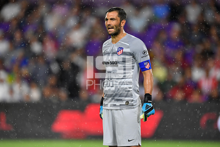 Orlando, FL - Wednesday July 31, 2019:  Antonio Adán #1 during the Major League Soccer (MLS) All-Star match between the MLS All-Stars and Atletico Madrid at Exploria Stadium.