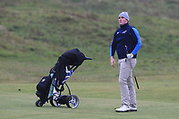 Eoin Murphy (Dundalk) on the 12th fairway during Round 2 of the Ulster Boys Championship at Portrush Golf Club, Portrush, Co. Antrim on the Valley course on Wednesday 31st Oct 2018.<br /> Picture:  Thos Caffrey / www.golffile.ie<br /> <br /> All photo usage must carry mandatory copyright credit (&copy; Golffile | Thos Caffrey)