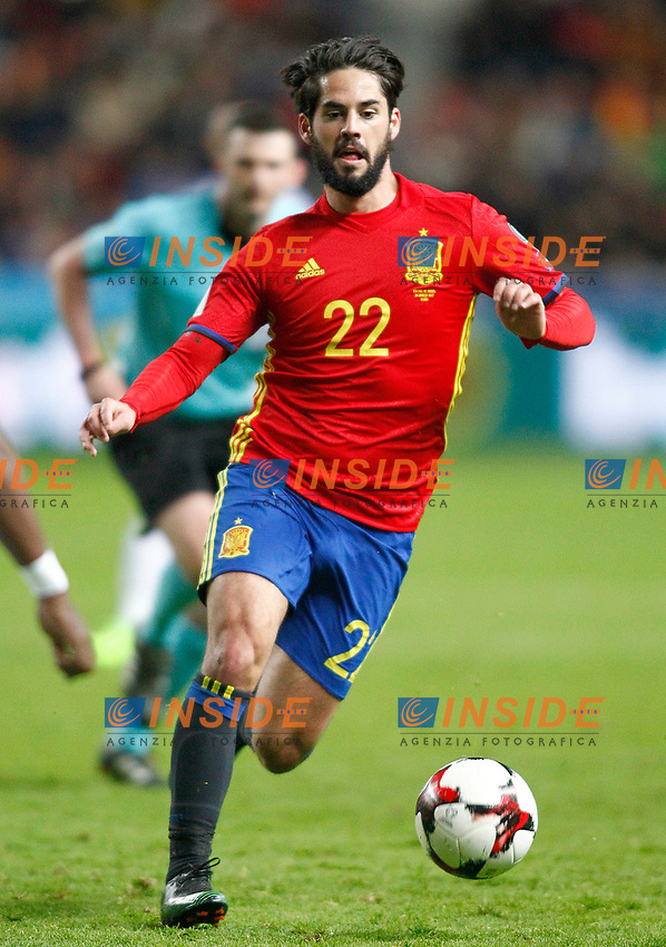Spain's Isco Alarcon during FIFA World Cup 2018 Qualifying Round match. <br /> Gijon 24-03-2017 Stadio El Molinon <br /> Qualificazioni Mondiali <br /> Spagna - Israele <br /> Foto Acero/Alterphotos/Insidefoto <br /> ITALY ONLY