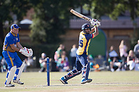 Ravi Bopara of Essex drives through the off side during Upminster CC vs Essex CCC, Benefit Match Cricket at Upminster Park on 8th September 2019