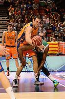 Aguilar vs Thomas<br /> Liga Endesa ACB - 2014/15<br /> J8<br /> Valencia Basket vs Unicaja