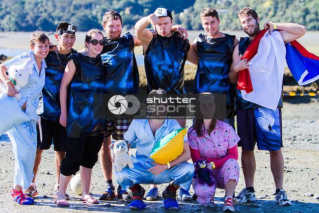 Muddy Buddy Fun Run, Havelock Estuary, New Zealand, Sunday 11 May 2014. Ricky Wilson/www.shuttersport.co.nz