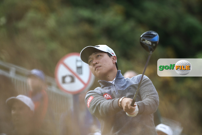 Jeunghun Wang (KOR) during the First Round of the 2016 Aberdeen Asset Management Scottish Open, played at Castle Stuart Golf Club, Inverness, Scotland. 07/07/2016. Picture: David Lloyd | Golffile.<br /> <br /> All photos usage must carry mandatory copyright credit (&copy; Golffile | David Lloyd)