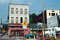 Pittsburgh: Braddock, Braddock Ave. Bell's Market is the only business still open for business. Photo 2001.