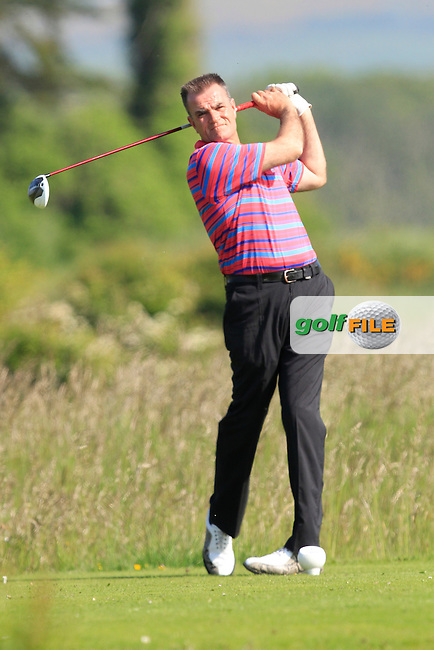John McGinn (Laytown &amp; Bettystown) on the 2nd tee during Round 1 of the East of Ireland in the Co. Louth Golf Club at Baltray on Saturday 31st May 2014.<br /> Picture:  Thos Caffrey / www.golffile.ie