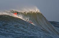 Evan Slater, Tyler Smith. Mavericks Surf Contest in Half Moon Bay, California on February 13th, 2010.