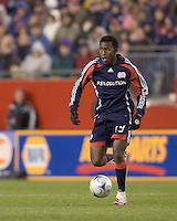 New England Revolution forward/midfielder Kenny Mansally (29). The New England Revolution defeated FC Dallas, 2-1, at Gillette Stadium on April 4, 2009. Photo by Andrew Katsampes /isiphotos.com