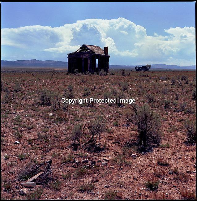 Cabin with Debris Field, WY