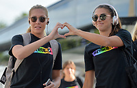 Sandy, Utah - Thursday June 07, 2018: Allie Long, Alex Morgan during an international friendly match between the women's national teams of the United States (USA) and China PR (CHN) at Rio Tinto Stadium.