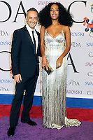 NEW YORK CITY, NY, USA - JUNE 02: Francisco Costa and Solange Knowles arrive at the 2014 CFDA Fashion Awards held at Alice Tully Hall, Lincoln Center on June 2, 2014 in New York City, New York, United States. (Photo by Celebrity Monitor)