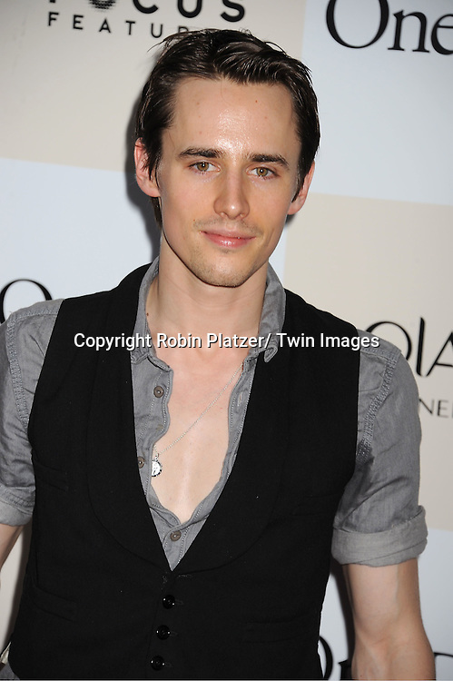 "Reeve Carney attending the New York Premiere of ""One Day"" starring .Anne Hathaway, Jim Sturgess and Patricia Clarkson on .August 8, 2011 at The AMC Loews Lincoln Square 13 Theatre in New York City."