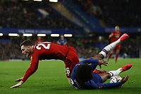 3rd March 2020; Stamford Bridge, London, England; English FA Cup Football, Chelsea versus Liverpool; Andrew Robertson of Liverpool fouls Willian of Chelsea