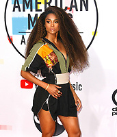 LOS ANGELES, CA - OCTOBER 09: Ciara attends the 2018 American Music Awards at Microsoft Theater on October 9, 2018 in Los Angeles, California.  <br /> CAP/MPI/IS<br /> ©IS/MPI/Capital Pictures