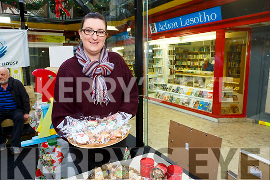 Ciara O'Sullivan (Ciara's Cookies) at the Recovery Haven Kerry Christmas Craft Fair in Tralee Shopping Centre on Saturday.