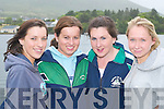 BOATS: Sinead Kelly, Caherciveen, Maura Curran, Waterville, Deirdre Murphy and Emma OSullivan,.Renard, enjoying the Caherciveen Regatta last Saturday.