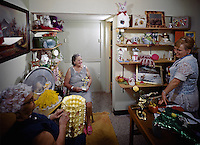 Women working in the nursing home gift store.