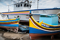 Malta, 29 December 2014<br /> <br /> In the fishing village of Marsaxlokk, south east of Valetta. You can still find the traditional Maltese fishing boats here painted in bright colours<br /> <br /> Photo Kees Metselaar