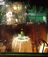 French Cafe seen through a steamy window
