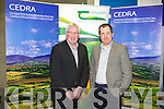 Pat Spillane chairman for the economic development of rural areas with Sean Murphy director of Murphy's Ice Cream at the public meeting at the IT Tralee on Monday.