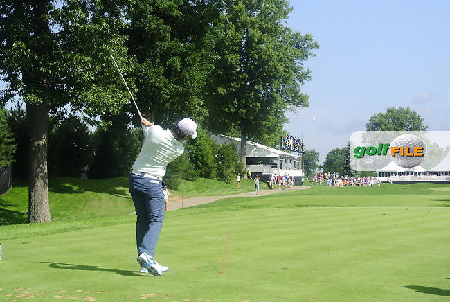 Rory McIlroy (NIR) tees off the 15th tee during Friday's Round 1 of the 2013 Bridgestone Invitational WGC tournament held at the Firestone Country Club, Akron, Ohio. 2nd August 2013.<br /> Picture: Eoin Clarke www.golffile.ie