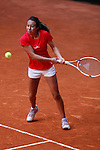 Spanish tennis player Paula Arias Manjon during Tennis Junior Fed Cup in Madrid, Spain. September 30, 2015. (ALTERPHOTOS/Victor Blanco)