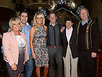 Aidan Townley and Cheryl O'Brien celebrating their engagement and Cheryl's 30th birthday in the Mariner with parents Alan and Ann O'Brien and Paddy and Patricia Townley. Photo:Colin Bell/pressphotos.ie