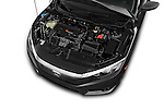 Car Stock 2016 Honda Civic LX 4 Door Sedan Engine  high angle detail view