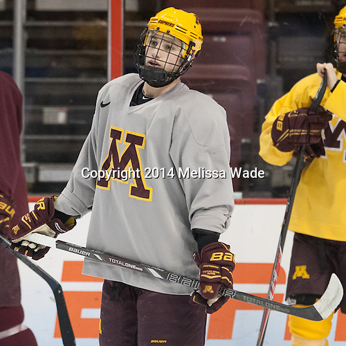Ryan Reilly (MN - 9) - The University of Minnesota Golden Gophers took part in a press conference and practice on Friday, April 11, 2014, during the 2014 Frozen Four at the Wells Fargo Center in Philadelphia, Pennsylvania.