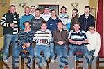 21ST: Having a great evening at his 21st birthday in The Greyhound Bar, Tralee, on Friday was Karl Holland of Kingscourt Manor (seated front centre), along with family and friends..