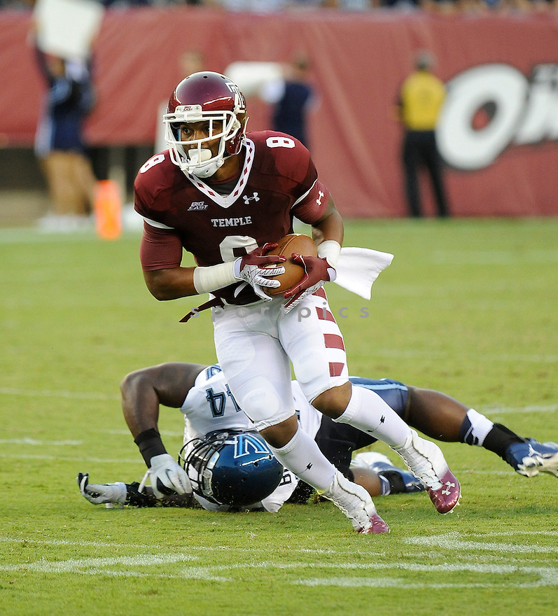 Temple Owls Montel Harris (8) in action during a game against the Villanova Wildcats on August 31, 2012 at Lincoln Financial Field in Philadelphia, PA. Temple beat Villanova 41-10.