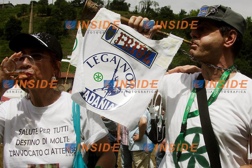 Sostenitore friulano della Lega Nord...Manifestazione della Lega Nord...Pontida, 01 Giugno 2008...Foto Antonietta Baldassarre Inside