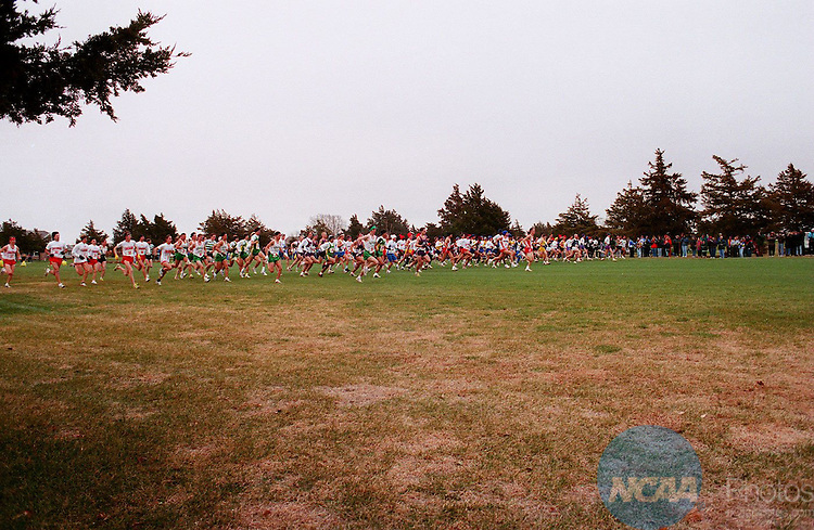The men's field at the Division ll Cross Country Championship November 19, 1994, in Kearney, Nebraska. Adams State won the event. Charlie Riedel/NCAA Photos.