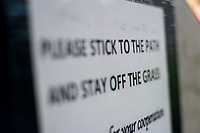 Signage keep off grass <br /> Re: Behind the Scenes Photographs at the Liberty Stadium ahead of and during the Premier League match between Swansea City and Bournemouth at the Liberty Stadium, Swansea, Wales, UK. Saturday 25 November 2017