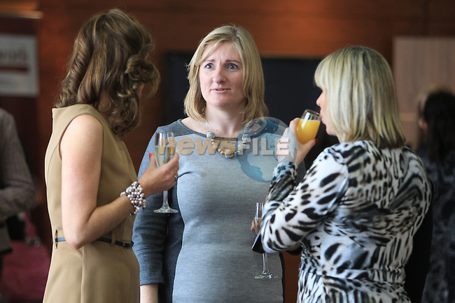 Louise Maher Speaking with guests at the Network Ireland International Womens Day event in the Crowne Plaza Dundalk...Picture: Fran Caffrey/ www.newsfile.ie.