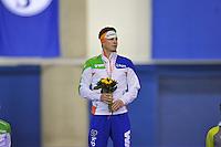 SCHAATSEN: CALGARY: Olympic Oval, 10-11-2013, Essent ISU World Cup, podium 5000m, Sven Kramer (NED), ©foto Martin de Jong