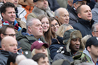 West Ham fans during West Ham United vs Arsenal, Premier League Football at The London Stadium on 12th January 2019