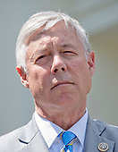 United States Representative Fred Upton (Republican of Michigan) announces his support for the GOP health care plan at the White House in Washington, DC following a meeting with US President Donald J. Trump and other members of the Republican Caucus on Wednesday, May 3, 2017.<br /> Credit: Ron Sachs / CNP