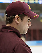 Justin Johnson (MN - Volunteer Assistant Coach) - The University of Minnesota Golden Gophers took part in a press conference and practice on Friday, April 11, 2014, during the 2014 Frozen Four at the Wells Fargo Center in Philadelphia, Pennsylvania.