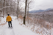 Scenic view from along the Discovery Trail in Lincoln, New Hampshire USA.